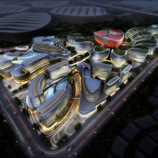 International Convention and Exhibition Center 6 3D Model