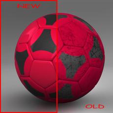 Soccerball red black 3D Model