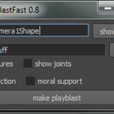 playBlast Fast for Maya 0.8.1 (maya script)