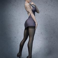Stockings high heels office girl 3D Model