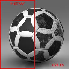 Soccerball black white triangles 3D Model