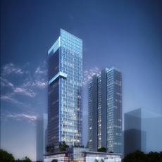 Skyscraper Office Building 022 3D Model