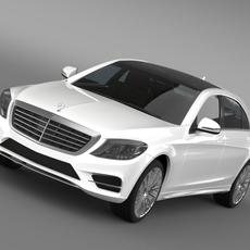AMG Mercedes Benz S 500 Plug In Hybrid W222 2014 3D Model