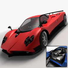 Pagani Zonda F Low Poly 3D Model