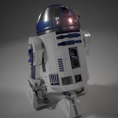 Realistic R2 Unit 3D Model