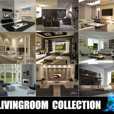 Livingrooms Collection 2 3D Model