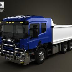 Scania R 420 Tipper Truck 2004 3D Model
