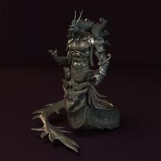 Dragon God Statue 3D Model