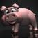 Cartoon Pig RIGGED 3D Model
