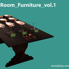 AS DiningRoom Furniture vol.1 3D Model
