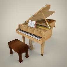 of Piano 3D Model
