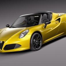 Alfa Romeo 4C Spider 2015 3D Model