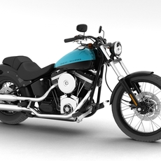 Harley-Davidson FXS Softail Blackline 2012 3D Model
