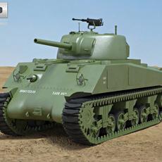 M4A2 Sherman 3D Model