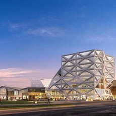 City shopping mall 027 3D Model