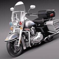Harley-Davidson Road King NYPD Police 2015 3D Model