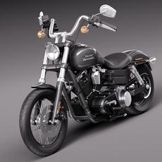 Harley-Davidson Sportster Dyna Street Bob 2015 3D Model