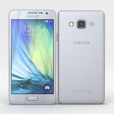 Samsung Galaxy A3 and A3 Duos Silver 3D Model