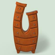 Furniture cartoon style 3D Model