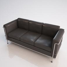Le Corbusier Sofa 3D Model