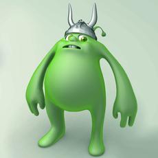 Monster with helmet 3D Model