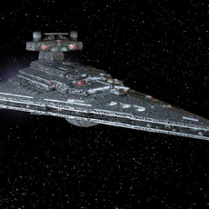 StarWars Star Destroyer with lights 3D Model
