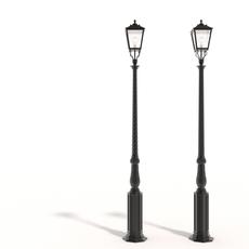 Cast iron street lamps 3D Model