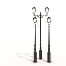 Cast iron street lamps 2 3D Model