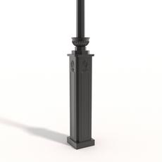 Cast iron street lamp B 3D Model