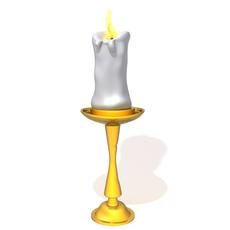 Candle light holder 3D Model