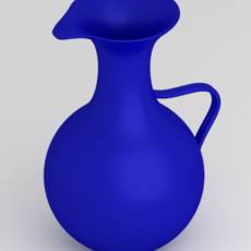 Blue Water Pitcher 3D Model