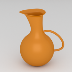Orange Water Pitcher 3D Model