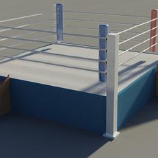 Boxing ring medium resolution 3D Model