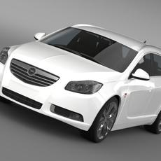 Opel Insignia OPC Line Sports Tourer 2013 3D Model