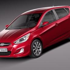 Hyundai Accent Hatchback 5-door 2015 3D Model