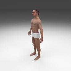8K Muscular Human Male 3D Model