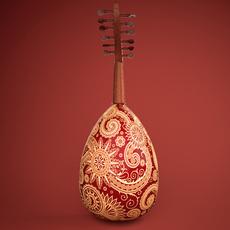 Oud Arabic instrument 3D Model