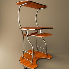 Desktop Computer Table 3D Model