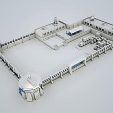 Scifi military base02 3D Model