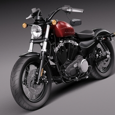 Harley-Davidson Sportster Forty Eight 2015 3D Model