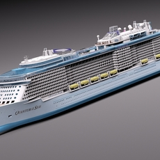 Quantum Of The Seas Cruise Ship 3D Model