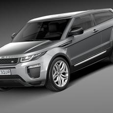 Range Rover Evoque 3-door 2016 3D Model