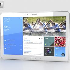 Samsung Galaxy NotePRO 12.2 inch White 3D Model