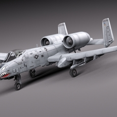 A-10 Thunderbolt Fairchild Republic 3D Model