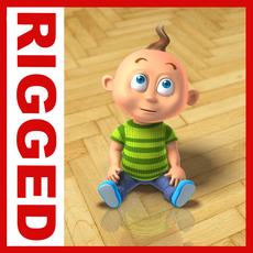Boy cartoon rigged 01 3D Model