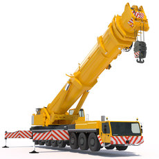 Mobile Crane Liebherr LTM 1500 3D Model