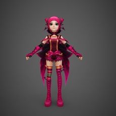 Toon character Pinky 3D Model