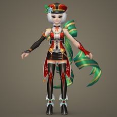 Toon character Robine 3D Model