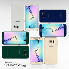 Samsung Galaxy S6 Edge All Color Pack 3D Model