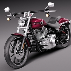 Harley-Davidson Softail BreakOut 2015 3D Model